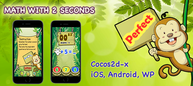 Math with 2 seconds - iOS, Android, WP (Cocos2d-x)