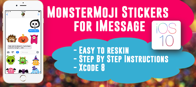 Monster iMessage Stickers
