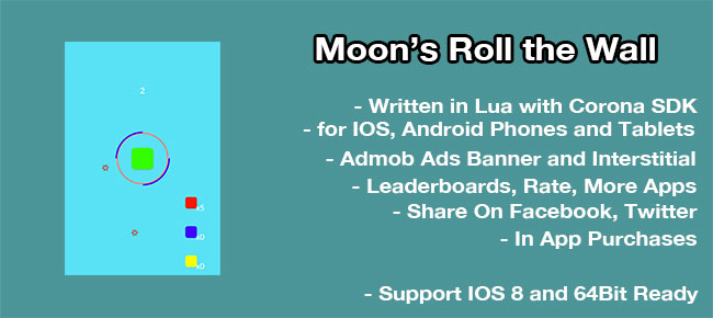 Moon's Roll the Wall Template For Corona