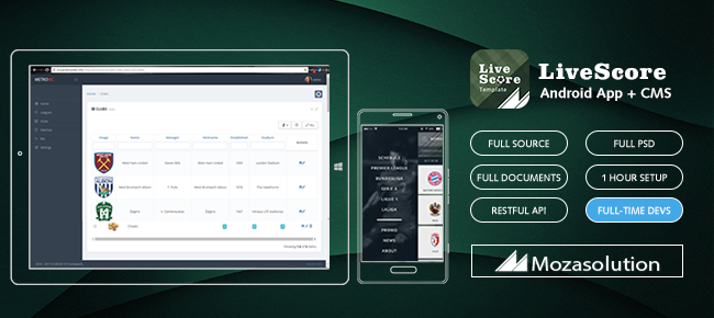 Moza LiveScore Android App Full Source Code-Monks