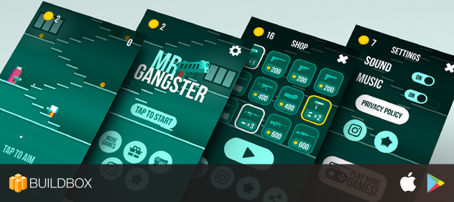 MR GUN - iOS / Android Buildbox for RESKIN