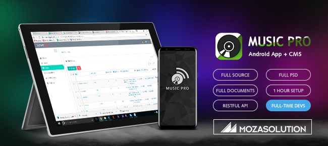 Music Pro Android App