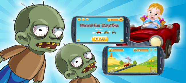 Need For Zombie - Buildbox 2 Game Template