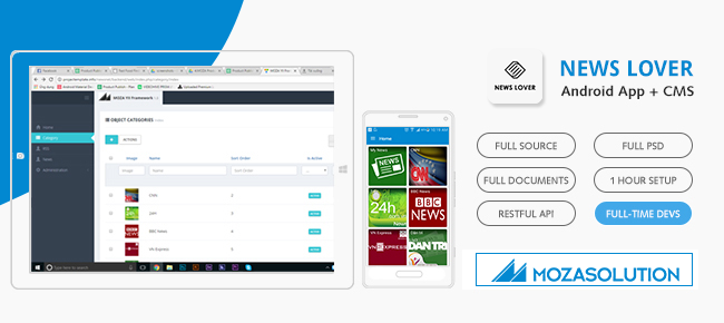 Newsnet App Template for Android