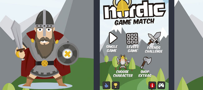 Nordic Vikings Match 3 Game Style Assets -