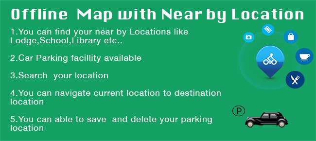 Offline map And Near By Location