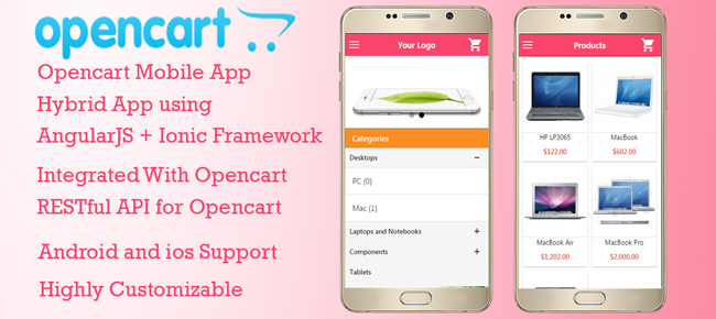 Opencart Ionic Mobile app