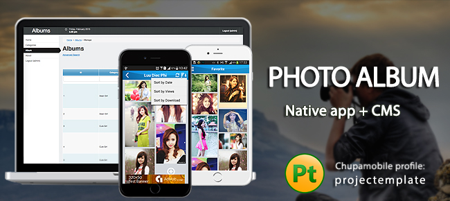 Photo Album iOS App with PHP Backend