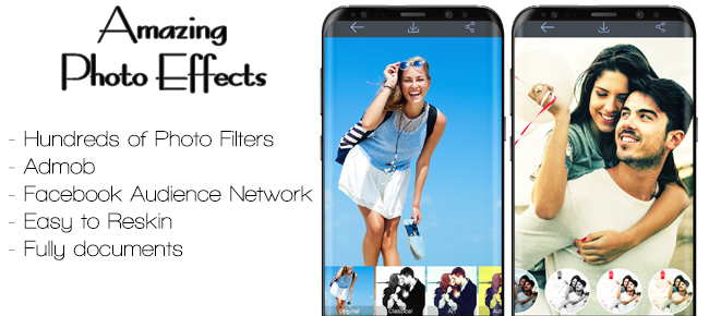 Photo Effects And Filters with Admob & FAN