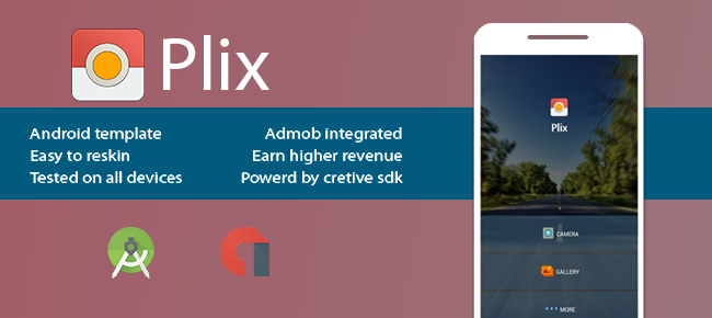 Plix Best photo editor for android with admob