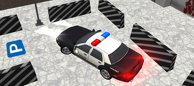Police car parking game real driving 2018