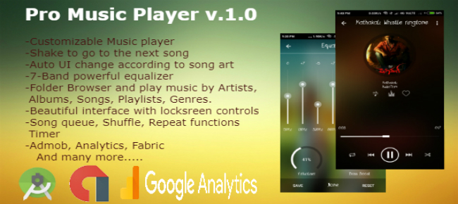 Pro music player with powerful equalizer