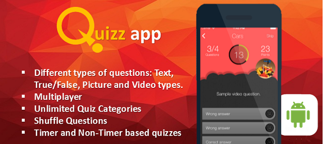 Quiz App Starter Kit All In One Android with CMS