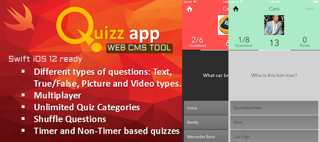 Quiz App Starter Kit - All In One With Web CMS