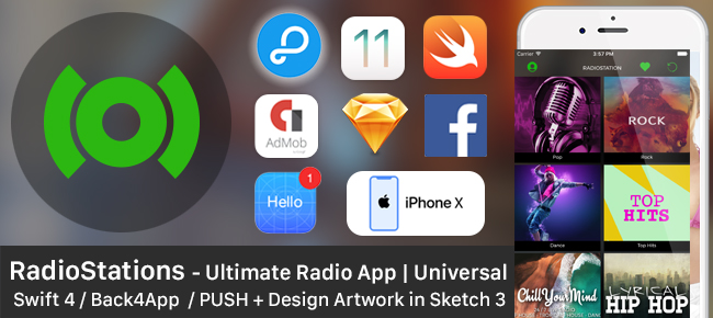 RadioStations - UltimateRadio app + Backend + Push