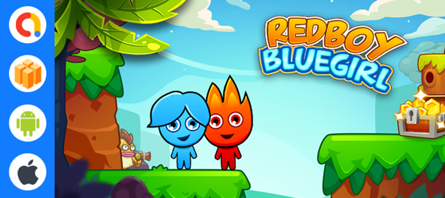 Red Boy And Blue Girl - Buildbox Template