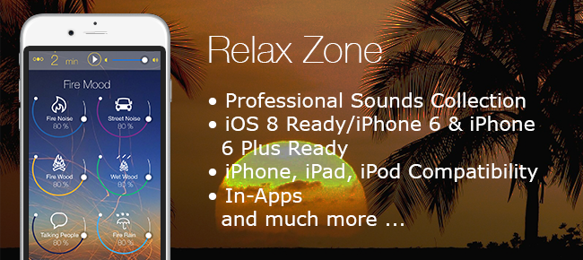RelaxZone-Sounds Of Rain, Forest And Fire iOS App