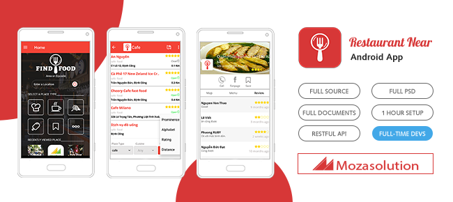 Buy restaurant near app template for android business and