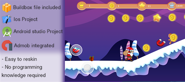 Santa run game for iOS and android