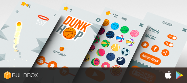 DUNK - iOS / Android Buildbox for RESKIN
