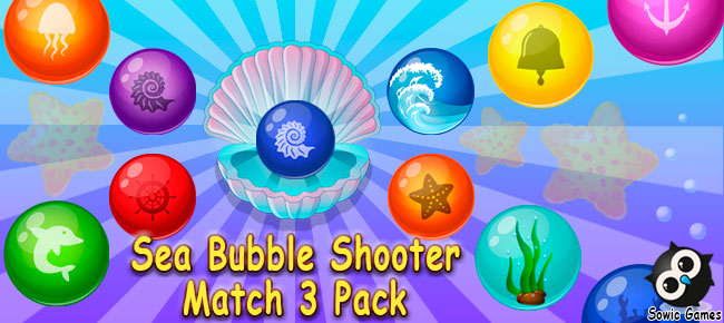 Sea Bubble Shooter Match 3 Pack