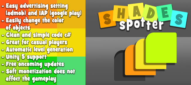 Shade spotter template