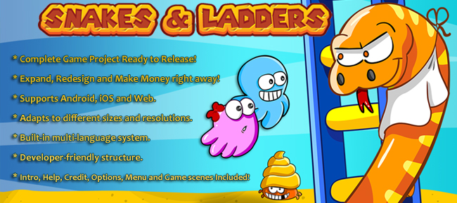 Snakes & Ladders - Complete game template
