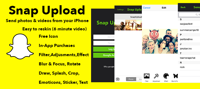 Buy Snap Upload - Send Photos & Videos From Your Phone Social ...
