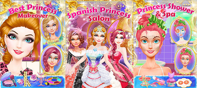 buy spanish princess salon makeover game for girls casual and