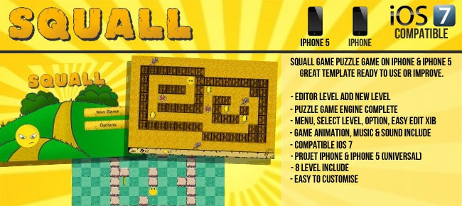 Squall Puzzle Game - Template