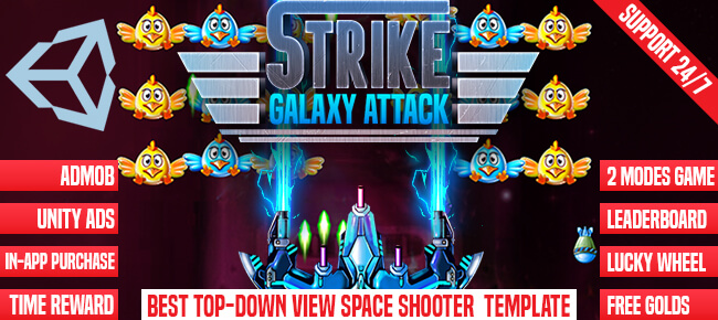 Strike Galaxy Attack- Unity Template