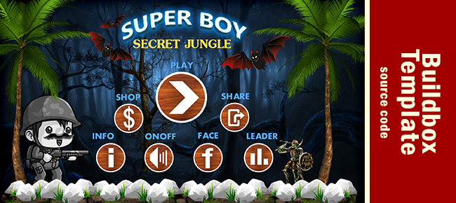Super Boy in Secret Forest - iOS Buildbox Template