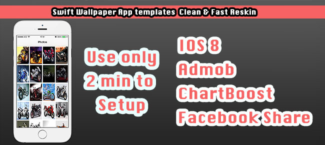 Swift Wallpaper Clean and Fast Reskin App Template