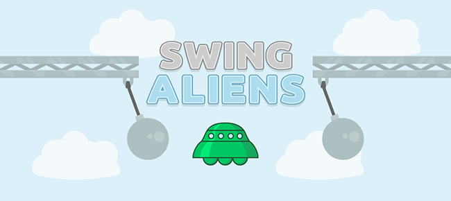 Swing Aliens - Swing Copters Style Game