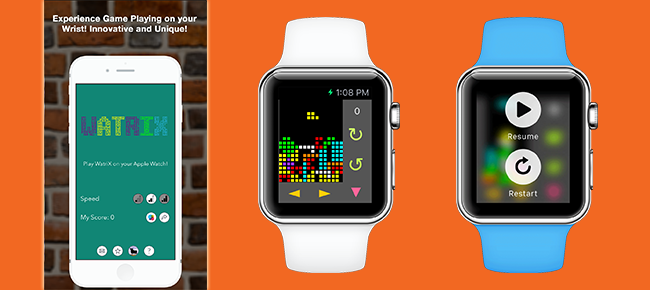 Tetris game for Apple Watch
