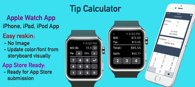 Tip Calculator - WatchKit + Universal App