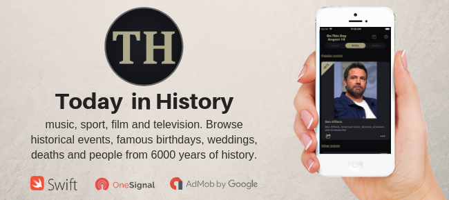 Today in History – iOS Native App