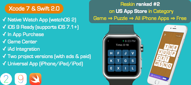 Touch The Letters - Puzzle Game for Apple Watch