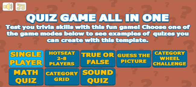 Trivial Quiz Games All In One - ANDROID/IOS & WEB