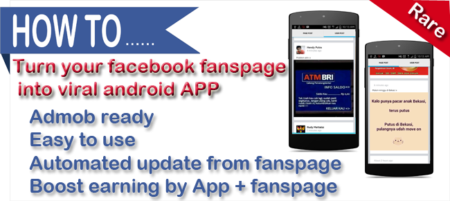 Turn Your Facebook Fanspage Into Viral Android App