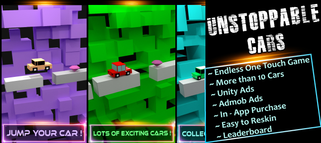 Unstoppable Cars - Unity One Touch Game