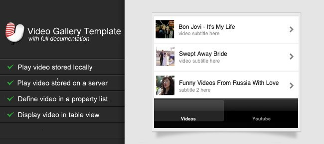 Video Gallery Template