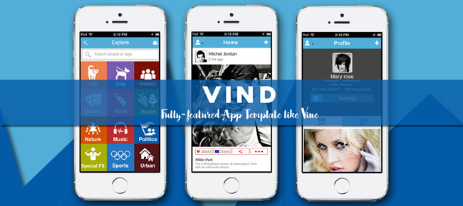 Vind - Video App Template Like Vine