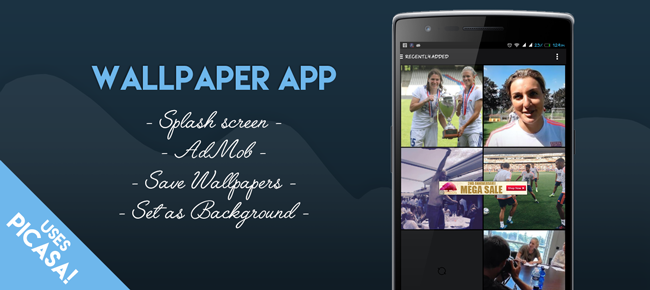 Wallpaper App + AdMob Ads