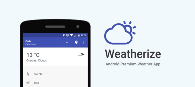 Weatherize - Material Design Android Weather App