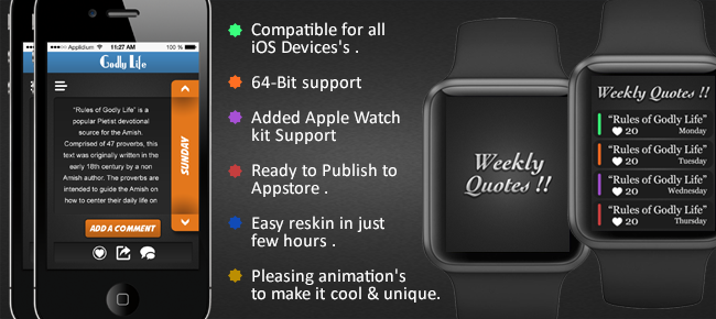 Weekly Quotes With WatchKit & CMS