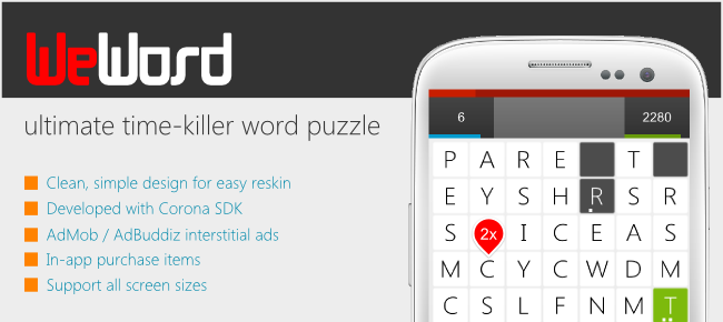 WeWord - Fast paced word puzzle