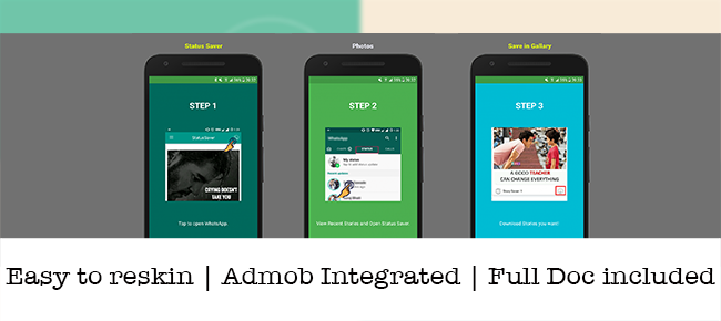 WhatsApp story saver & download with Admob