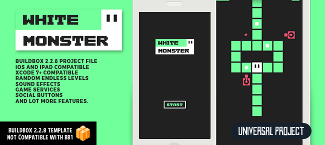 WHITE MONSTER - BUILDBOX 2 TEMPLATE