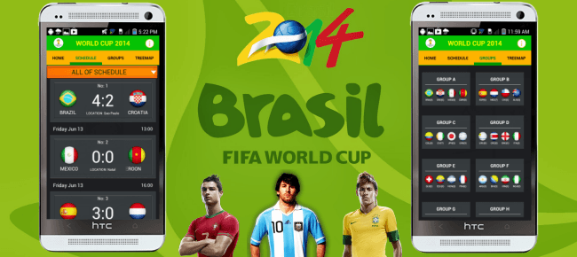World Cup 2014 Application for Android